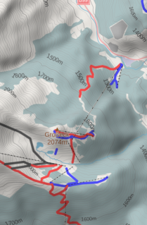 2D map with contour lines and hillshade